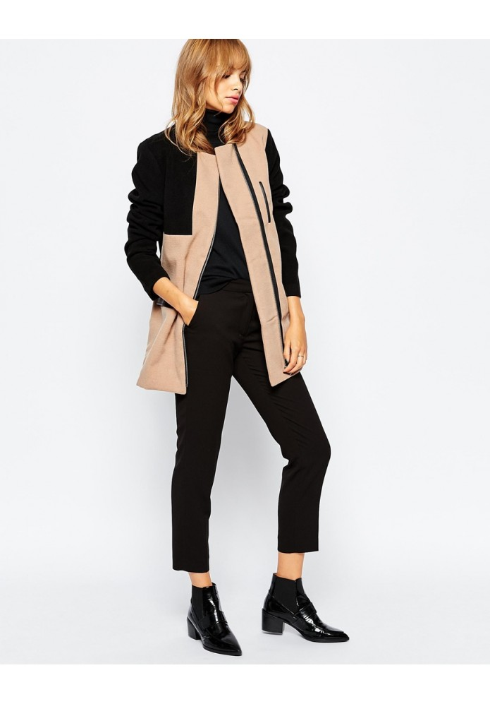 CHAQUETA COLOUR BLOCK