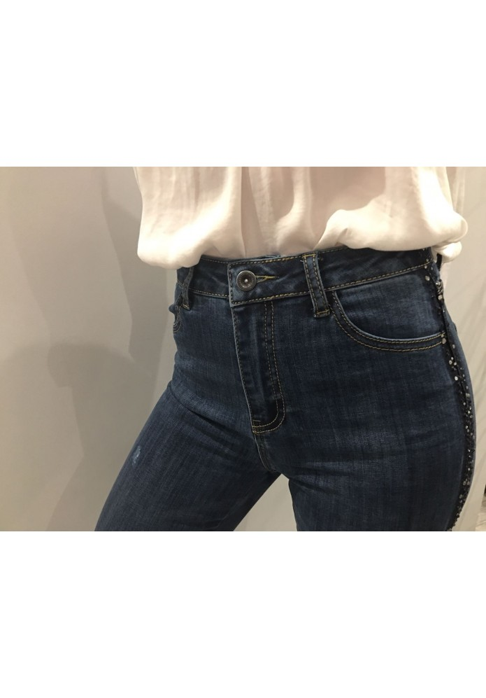 JEANS SKINNY BRILLOS LATERAL